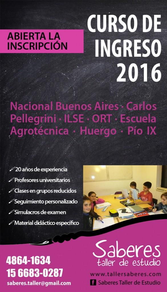 curso de ingreso 2016